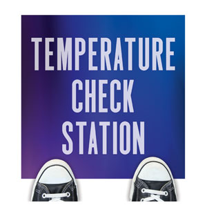 Aurora Lights Temperature Check Floor Stickers