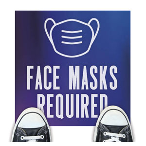 Aurora Lights Face Masks Required Floor Stickers