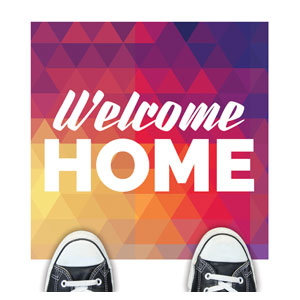 Geometric Bold Welcome Home Floor Stickers
