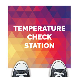 Geometric Bold Temperature Check Floor Stickers