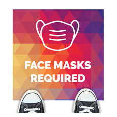 Geometric Bold Face Masks Required