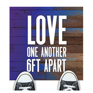 Colorful Wood Love One Another Floor Stickers