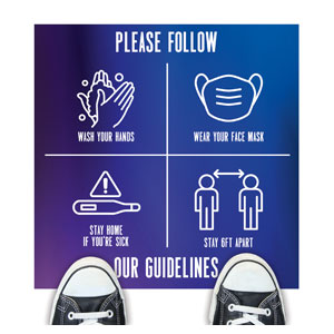 Aurora Lights Guidelines Floor Stickers