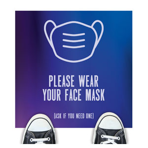 Aurora Lights Face Mask Floor Stickers