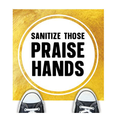 Gold Dot Praise Hands