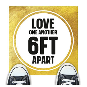 Gold Dot Love One Another Floor Stickers