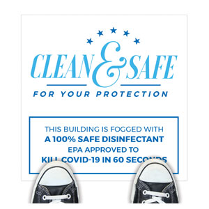 Clean and Safe For Your Protection Floor Stickers