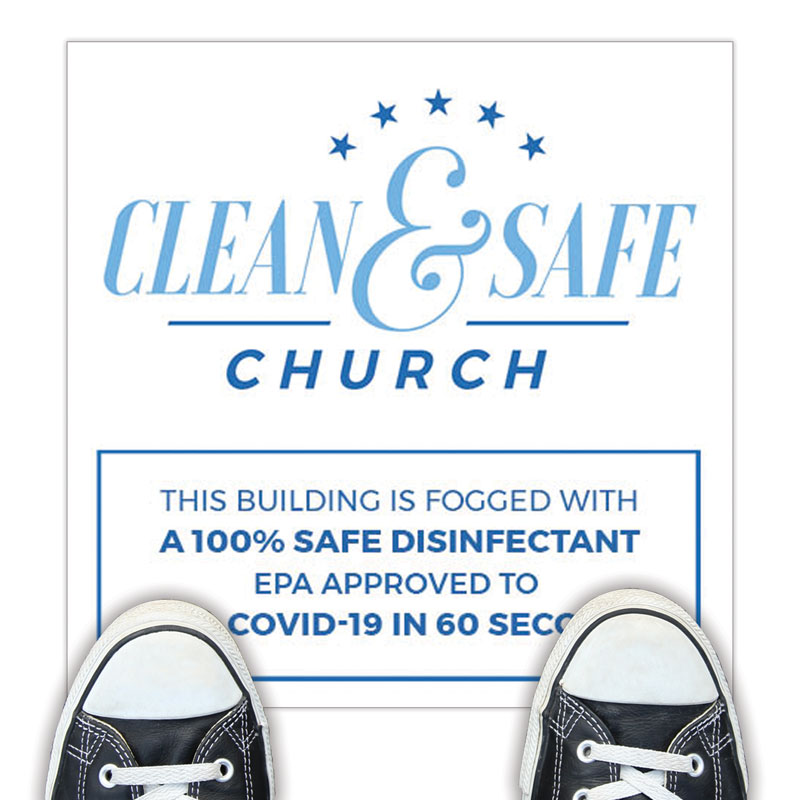 Floor Stickers, Clean and Safe Church, 12 x 12