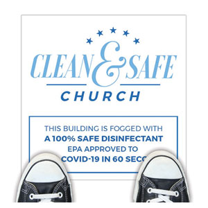Clean and Safe Church Floor Stickers
