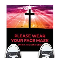 Hope Life Cross Face Mask
