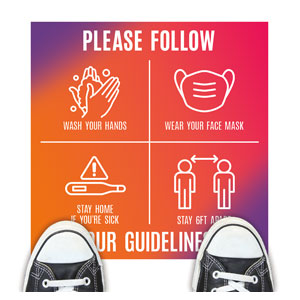 Easter Together Hues Guidelines Floor Stickers