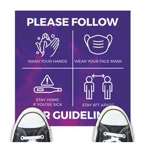 Love Never Fails Guidelines Floor Stickers