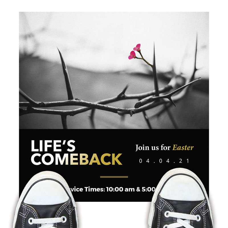 Floor Stickers, Easter, Life's Comeback, 12 x 18