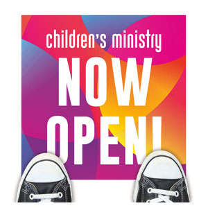 Curved Colors Children's Ministry Floor Stickers