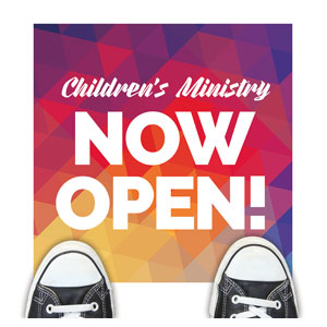 Geometric Bold Children's Ministry Floor Stickers