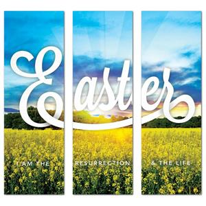 Easter Field Triptych  Banners
