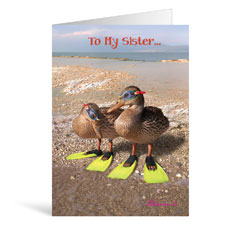Flippers Birthday Greeting Card