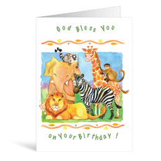 Zebra Birthday Greeting Card