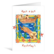 Otter Birthday Greeting Card