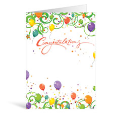 Balloons Congratulations Greeting Card