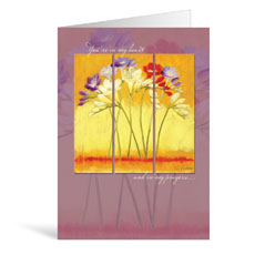 Triptych Get Well Greeting Card