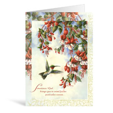 Hanging Flowers Thoughts Greeting Card
