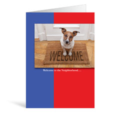 Welcome Mat Dog Greeting Card