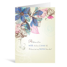 Long Stems Anniversary Greeting Card