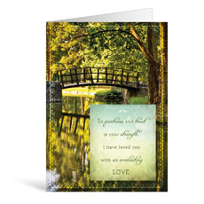 Bridge Praying Greeting Card