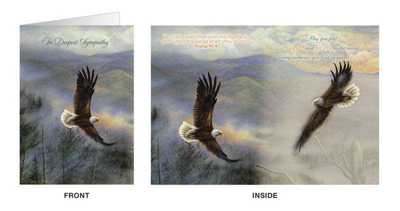 Eagle Sympathy Greeting Card Outreach Marketing