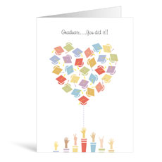 Hats Graduation Greeting Card