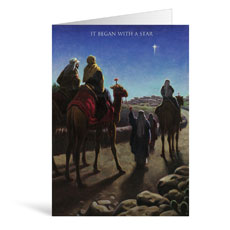 Wise Men Star Greeting Card