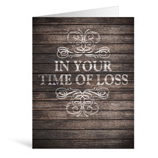 Rustic Charm Loss Greeting Card