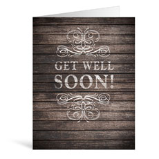 Rustic Charm Get Well Greeting Card