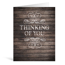 Rustic Charm Thinking Greeting Card