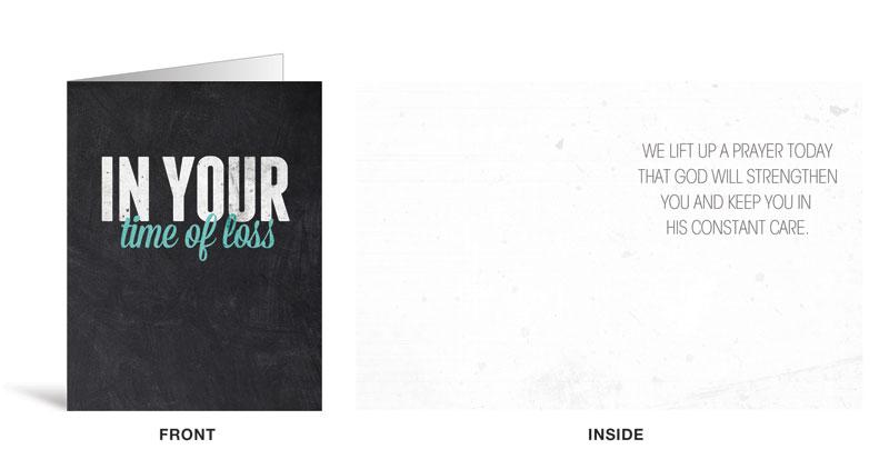 Slate loss greeting card church greeting cards outreach marketing m4hsunfo