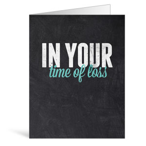Slate Loss Greeting Cards