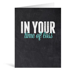 Slate Loss Greeting Card