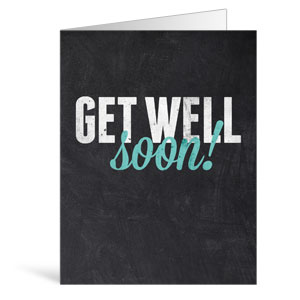 Slate Get Well Greeting Cards