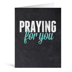 Slate Praying Greeting Card