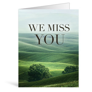 Nature Miss You Greeting Cards