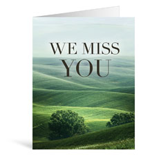Nature Miss You Greeting Card