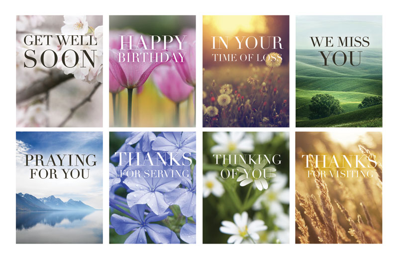 nature greeting card multi pack greeting card church greeting cards outreach marketing - Birthday Card Packs