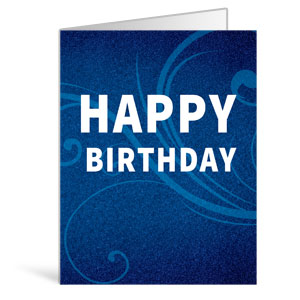 Flourish Happy Birthday Greeting Cards