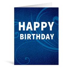 Flourish Happy Birthday Greeting Card