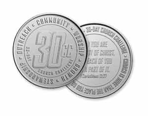 30-Day Church Challenge Coins