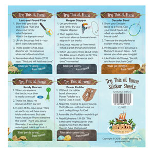 Shipwrecked Imagination Station Try-At-Home Sticker sheets, pack of 10 SpecialtyItems