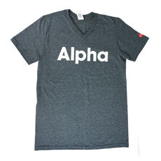 Alpha V-neck T-shirt Large