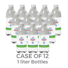 Liquid Hand Sanitizer 75 Percent Alcohol 1000ml Refill Bottles - Case of 12