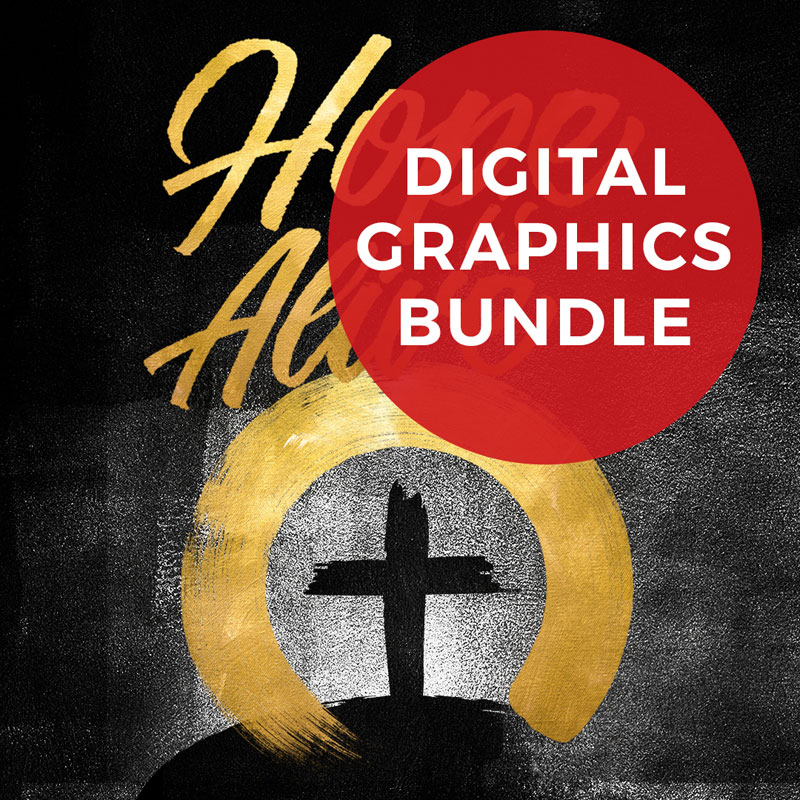 Church Graphic Bundles, Christmas, Hope Is Alive Gold
